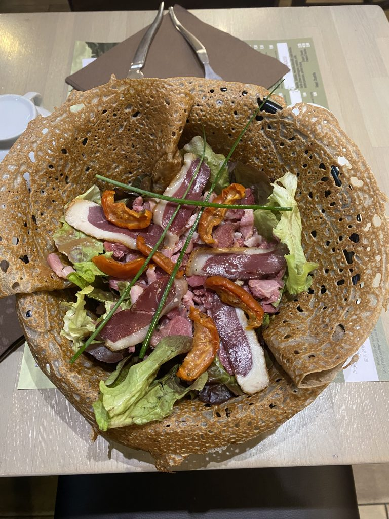 galette de canard, Crêperie du Bouffay, quartier Bouffay (44) Nantes
